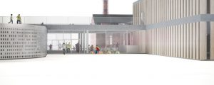 Proposal for kindergarden, school, library and social care center in Tartu, Estonia