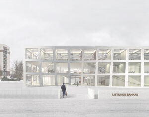 LB building complex in Vilnius renovation and extension