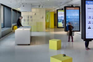 Interior and exposition content and design for Finance lab in Vilnius