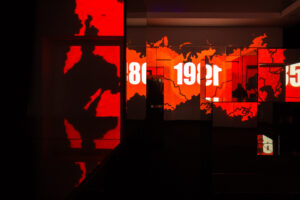 Interactive exhibition that allowed its visitors to experience a 100 year Lithuanian history period