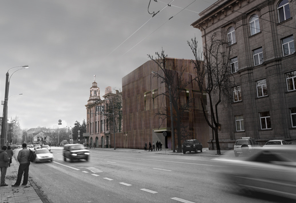 Renovation and extension of an administrative building in Vilnius, Lithuania