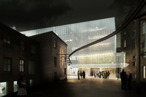 Proposal for reconstruction and extension of the theatre building in Riga, Latvia
