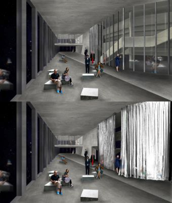 Proposal for theater renovation and extension in Szczecin, Poland